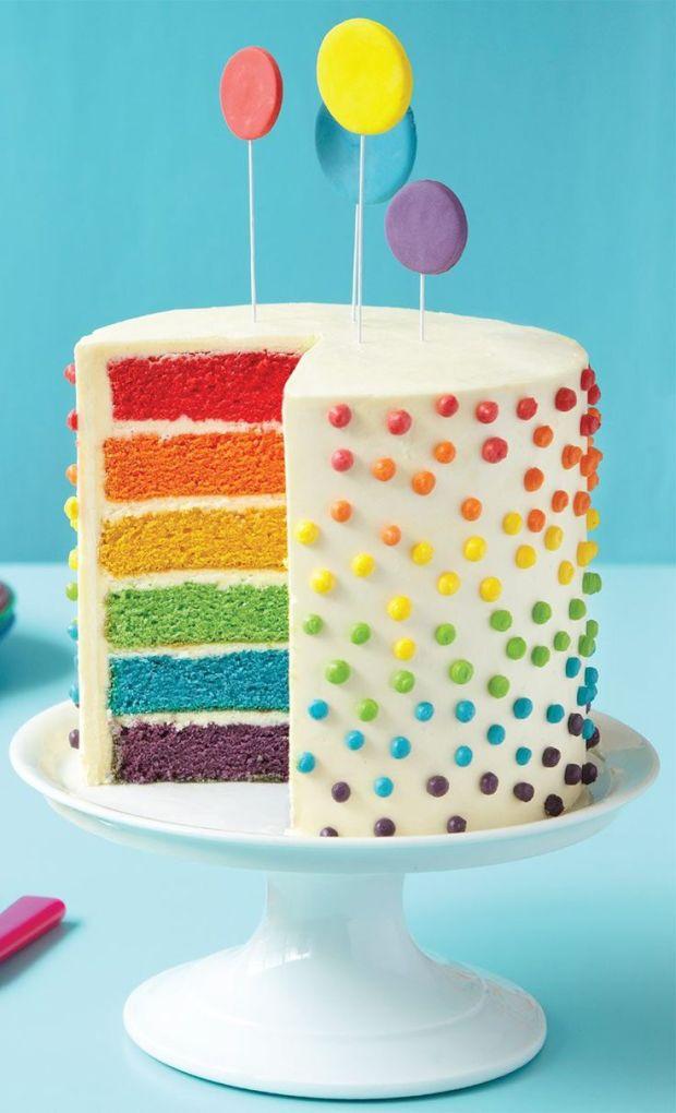 Rainbow Cake Bolo Arco Íris