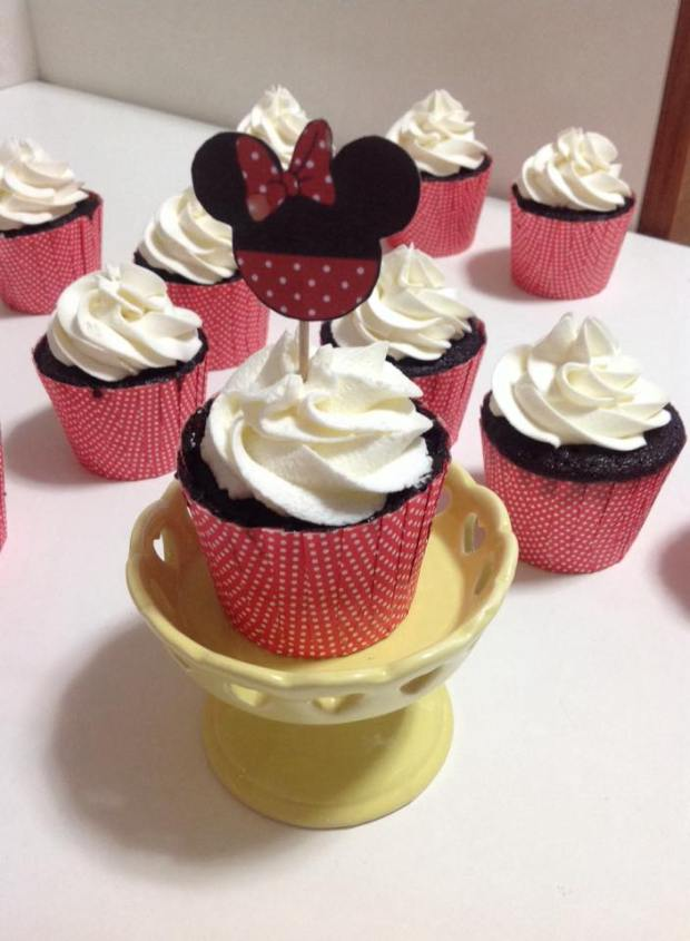 Cupcake Minnie Chocolate Chantininho