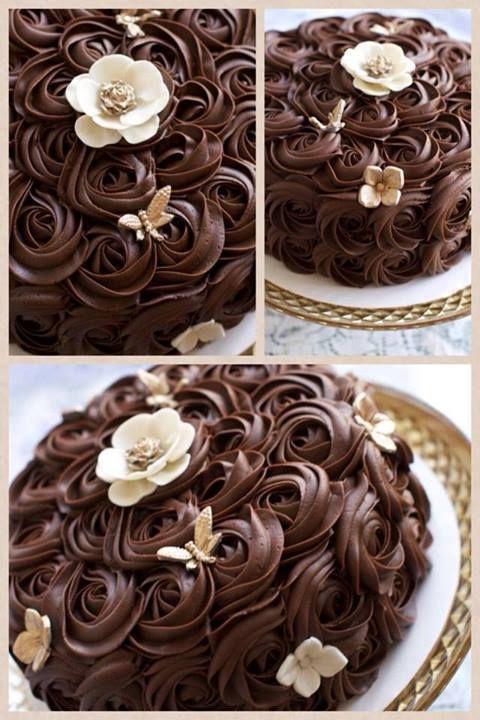 Rosette Cake Bolo Rosas
