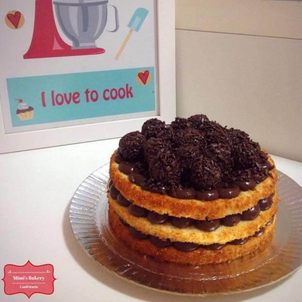 Naked Cake Brigadeiro
