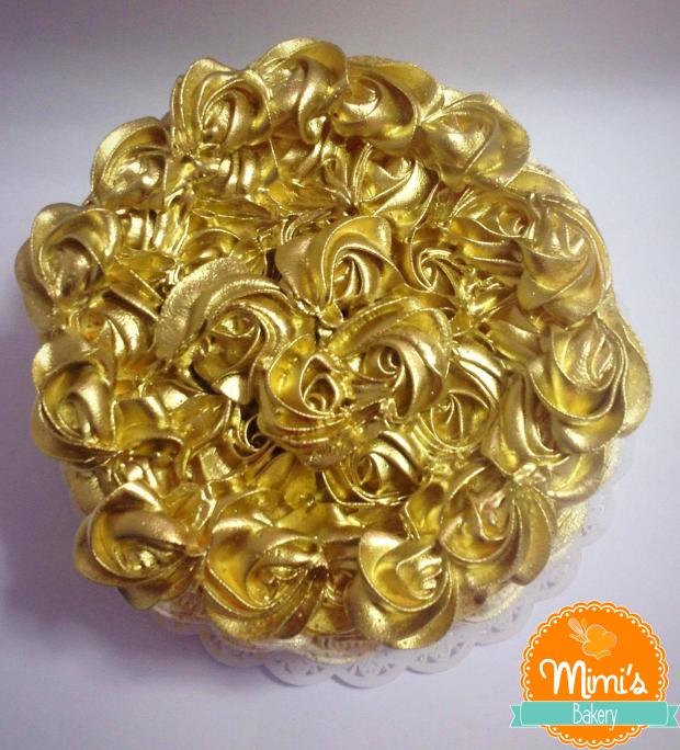 Cesta de Flores Douradas