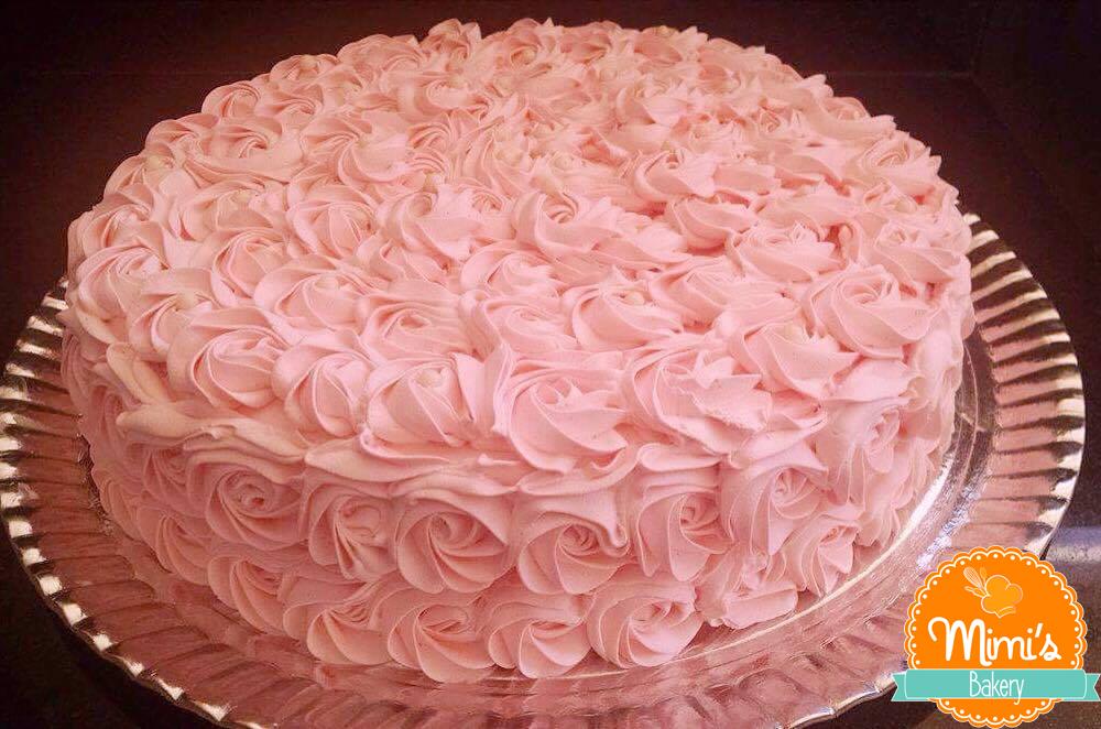 Bolo Rosette Rosa Claro