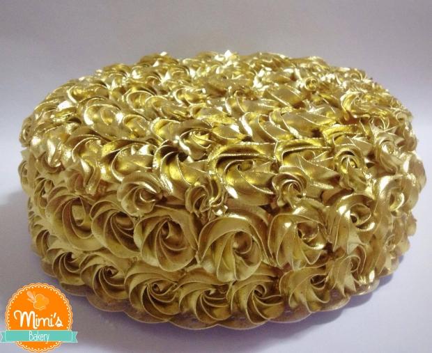 Bolo Rosette Dourado