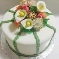 Bolo Decorado Bouquet de Flores
