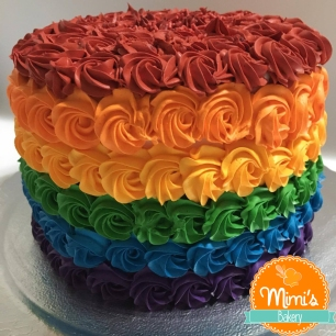 Bolo Arco Íris Chantininho - Rainbow Cake