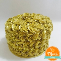 Bolo Micro Rosetas Douradas