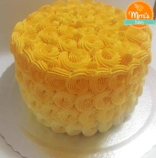 Bolo Chantininho: Caracóis Degradê Amarelo