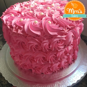 Rosette Cake Rosa Intenso II