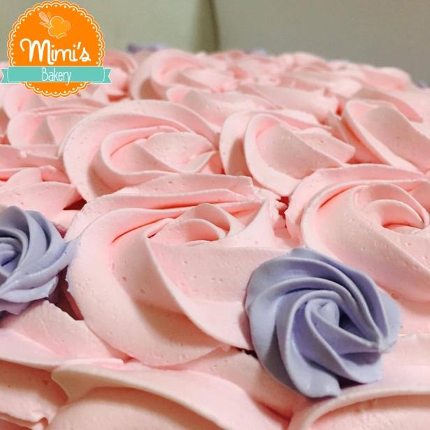 Rosette Cake Lilás com Rosa