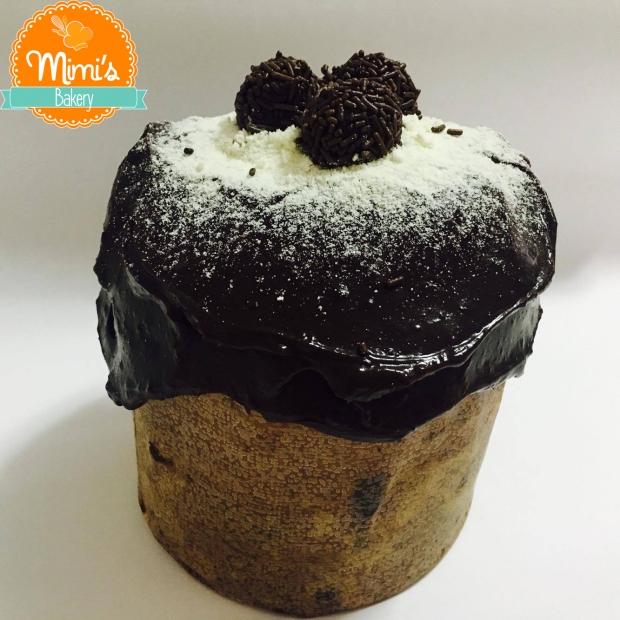 Chocotone Recheado: Brigadeiro de ninho e brigadeiro de chocolate