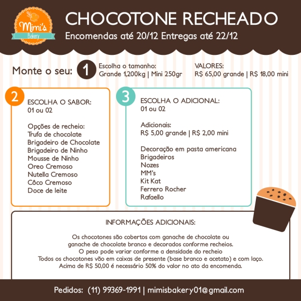 Menu-Chocotone