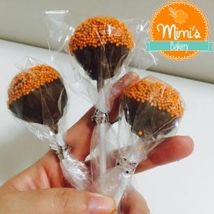 Cake Pop Cenoura com Chocolate ao Leite