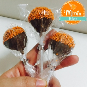 Cake Pop Cenoura com Chocolate ao Leite