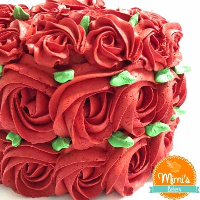 Rosette Cake Vermelho
