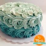 Rosette Cake Degradê Azul