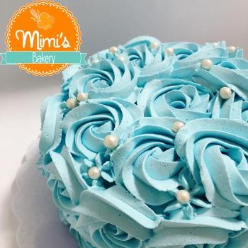 Rosette Cake Azul Tifanny
