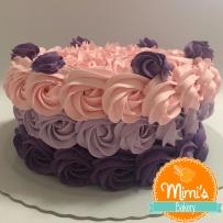 Rosette Cake Roxo, Lilás e Rosa II