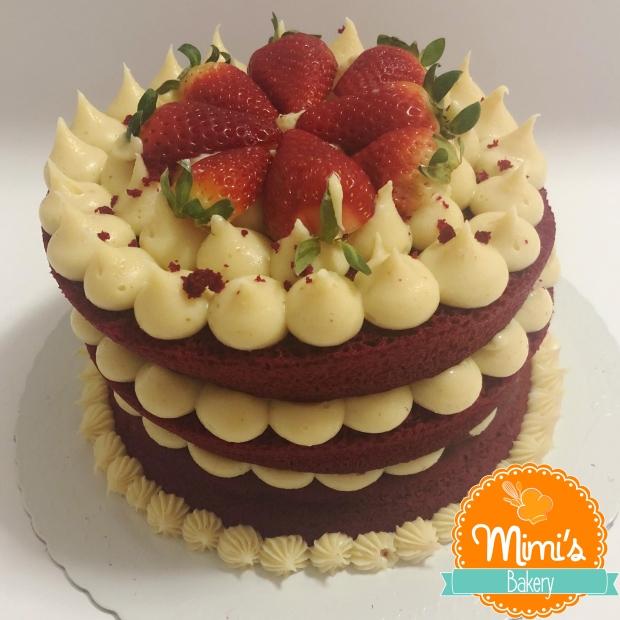 Naked Cake: Red Velvet com Ninho