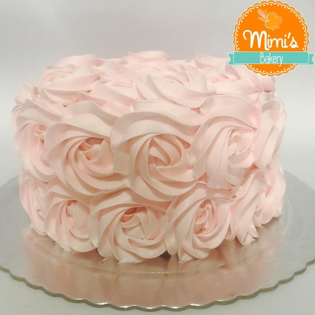 Rosette Cake Rosa Claro