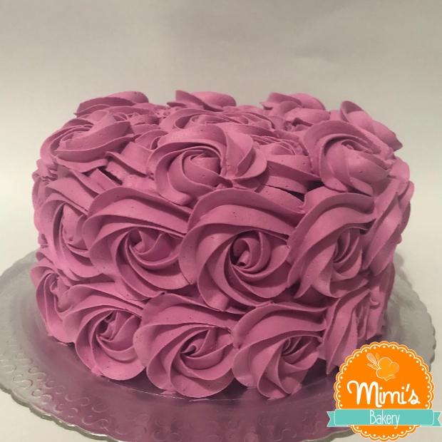 Rosette Cake Rosa Pink