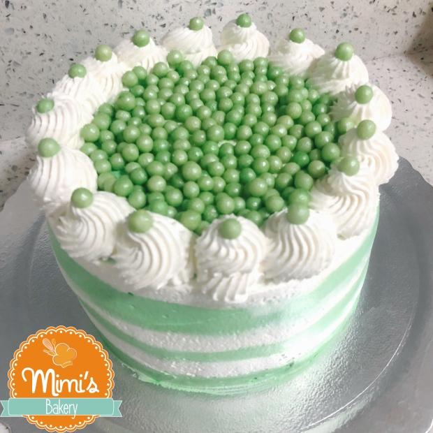 Bolo Chantininho: Verde e Branco