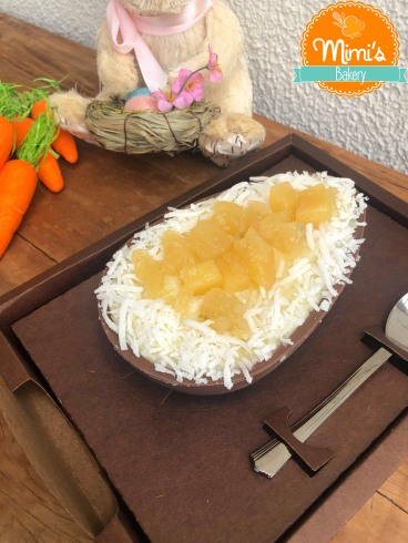 Ovo de Colher Côco com Abacaxi